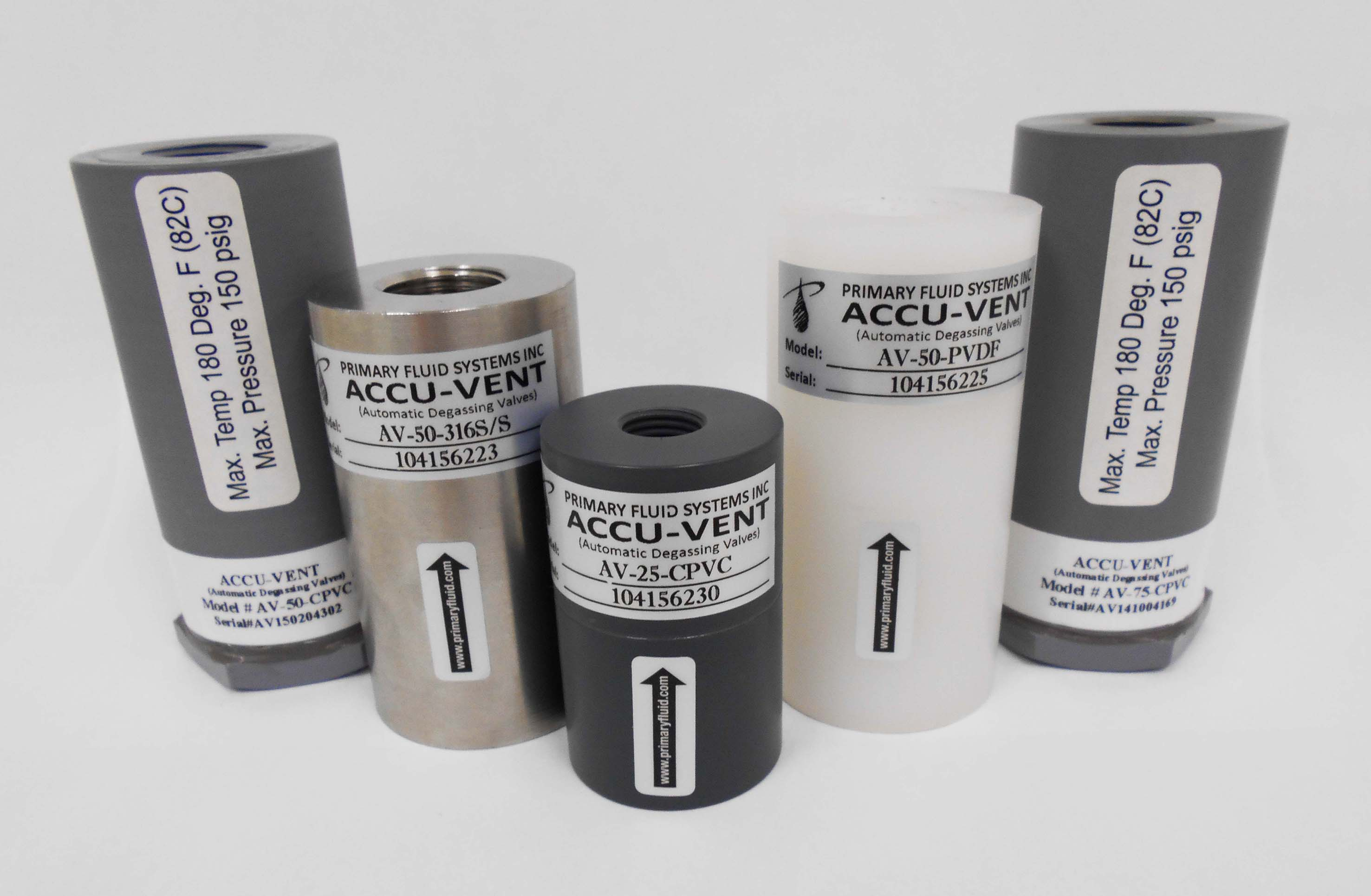Accu-Vent Automatic Degassing Valve in Metal and Plastic