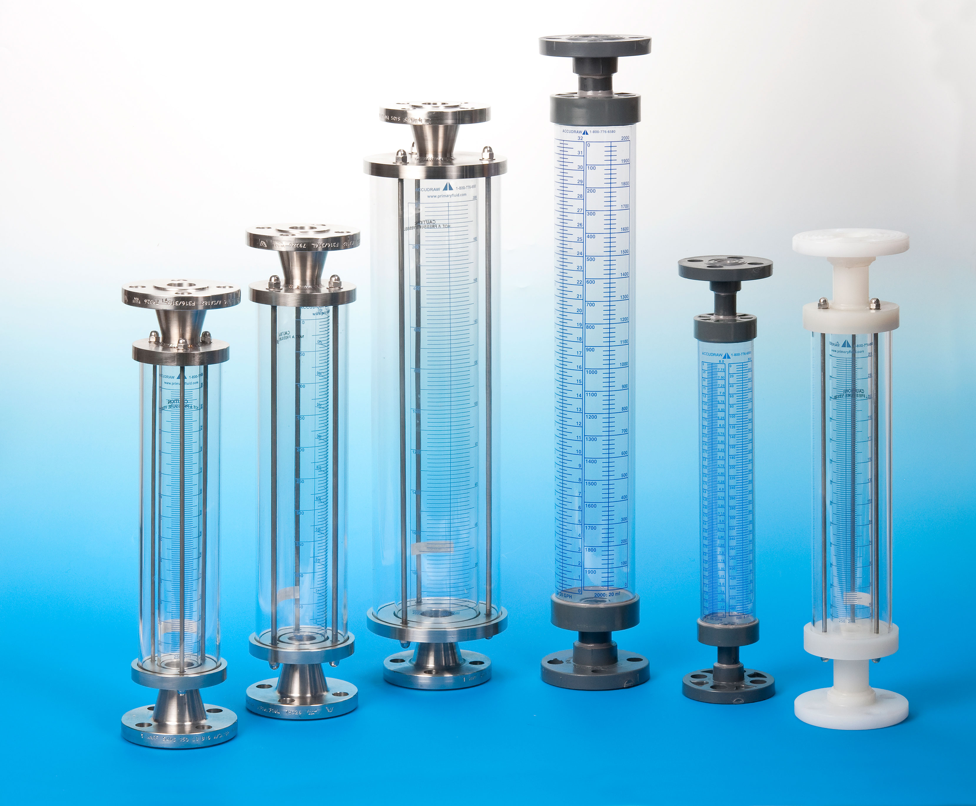 AccuDraw Calibration Cylinders in Glass and Plastic