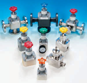 Top Valve Back Pressure and Pressure Relief Valves in Plastic and Metal